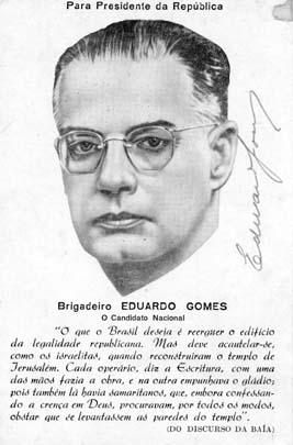Campanha de Eduardo Gomes para a presidência da República. 1950. FGV/CPDOC. Arq. Cordeiro de Farias.
