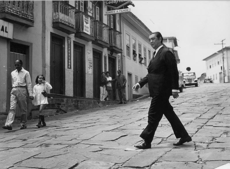 Juscelino Kubitsheck em visita a Diamantina (MG), 1976 ? Memorial JK.