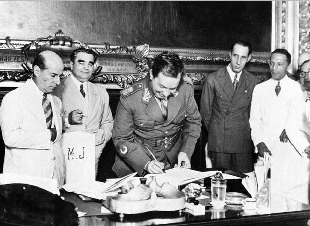 Góis Monteiro toma posse no Ministério da Guerra. Rio de Janeiro, 22 de janeiro de 1934. FGV/CPDOC, Arq. Antunes Maciel.